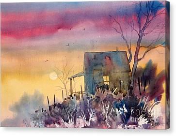 Oklahoma Sunset Canvas Print by Micheal Jones