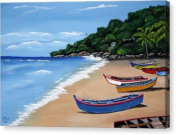 Olas De Crashboat Canvas Print