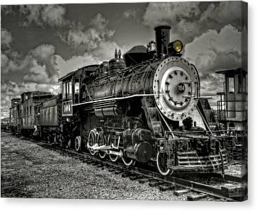 Old 104 Steam Engine Locomotive Canvas Print by Thom Zehrfeld