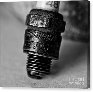 Old 48 Made In U S A Spark Plug Canvas Print by Wilma  Birdwell
