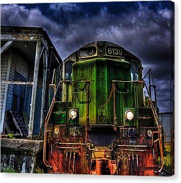 Canvas Print featuring the photograph Old 6139 Locomotive by Thom Zehrfeld