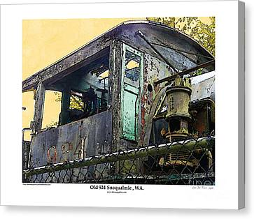 Canvas Print featuring the photograph Old 924 by Kenneth De Tore