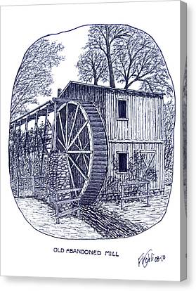 Old Abandoned Mill Canvas Print by Frederic Kohli