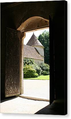 Old Abbey Church Door - Abbey Fontenay Canvas Print by Christiane Schulze Art And Photography