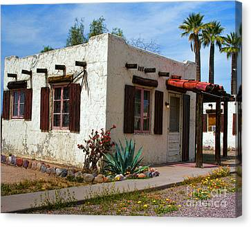 Old Adobe Cottage Canvas Print by Brian Lambert