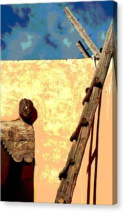 Canvas Print featuring the photograph Old Adobe by Mary Bedy