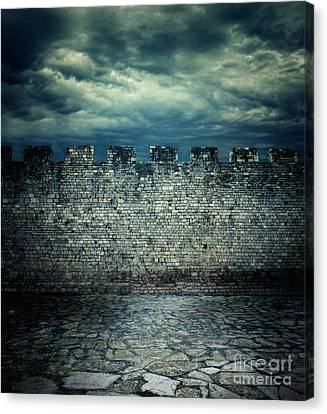 Old Ancient Wall Canvas Print by Mythja  Photography