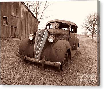 Old And Forgotten Canvas Print by Judy Whitton