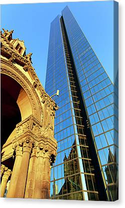 Old And New Boston Canvas Print by Babak Tafreshi