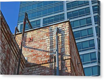 Old And New Los Angeles Canvas Print by Bill Owen