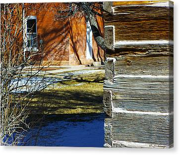 Old And Older Canvas Print by Peri Craig