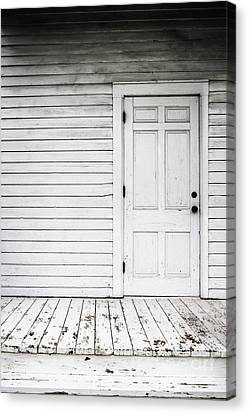Side Porch Canvas Print - Old And White by Margie Hurwich