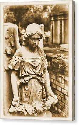 Canvas Print featuring the photograph Blessed Angel   by Nadalyn Larsen