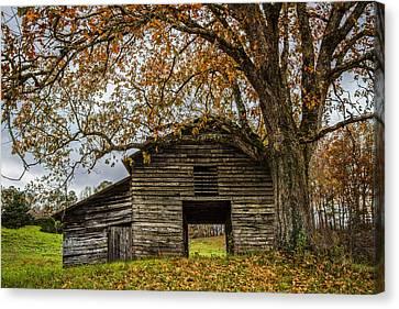 Old Appalachian Barn Canvas Print by Debra and Dave Vanderlaan