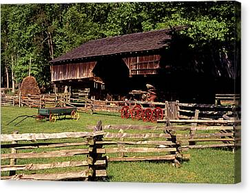 Old Appalachian Farm Cantilevered Barn Canvas Print by Paul W Faust -  Impressions of Light