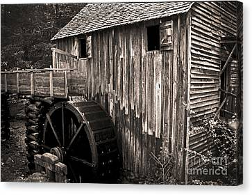 Old Appalachian Mill Canvas Print by Paul W Faust -  Impressions of Light