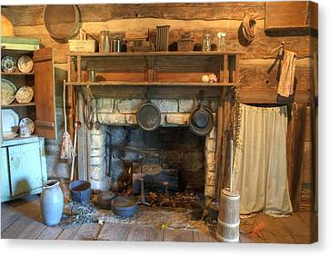 Old Appalpachian Kitchen Canvas Print by Paul W Faust -  Impressions of Light