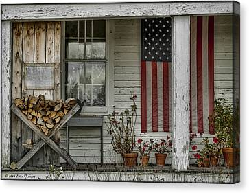 Old Apple Orchard Porch Canvas Print