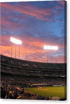 Canvas Print featuring the photograph Old Ball Game by Photographic Arts And Design Studio