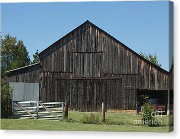 Old Barn And Truck Canvas Print by Kay Pickens