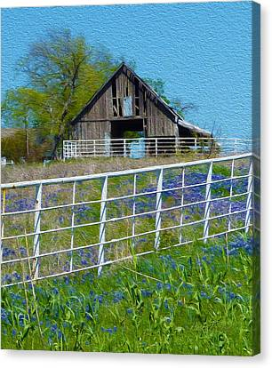 Old Barn - Another Spring Canvas Print