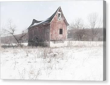 Old Barn - Brokeback Shack Canvas Print by Gary Heller