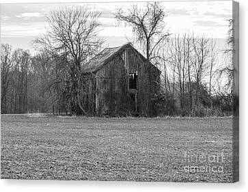 Canvas Print featuring the photograph Old Barn by Charles Kraus