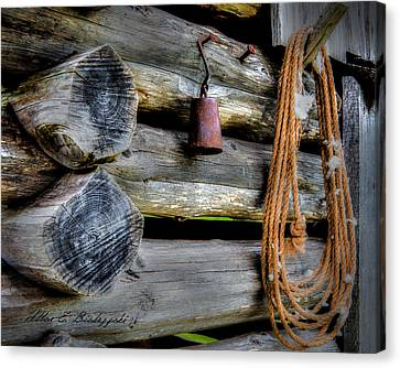 Old Barn Goods Canvas Print by Allen Biedrzycki