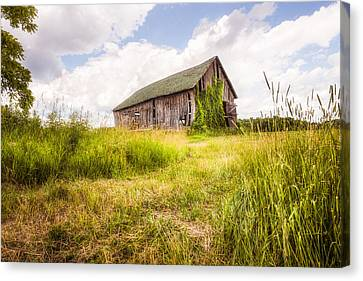 Canvas Print featuring the photograph Old Barn In Ontario County - New York State by Gary Heller