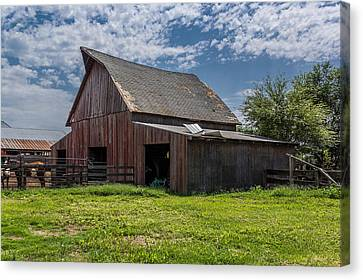 Canvas Print featuring the photograph Old Barn by Jay Stockhaus