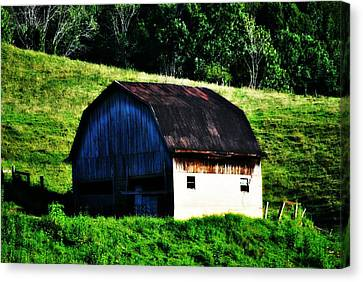 Old Barn Landscape Canvas Print by Chastity Hoff