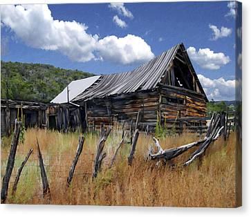 Old Barn Las Trampas New Mexico Canvas Print by Kurt Van Wagner
