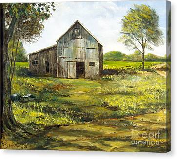 Maine Barns Canvas Print - Old Barn by Lee Piper