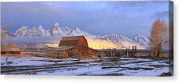 Old Barn On Mormon Row Canvas Print