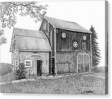 Old Canvas Print - Old Barn by Sarah Batalka
