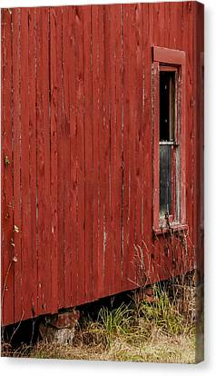 Canvas Print featuring the photograph Old Barn Window by Debbie Karnes