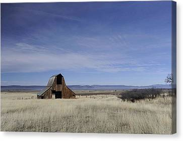 Old Barn With Great View Canvas Print