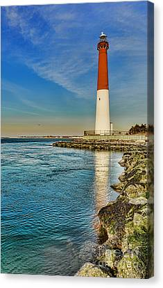 Old Barney At Sunrise - Barnegat Lighthouse Canvas Print by Lee Dos Santos