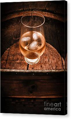 Old Barrel Top Glass Of Hard Liquor Canvas Print by Jorgo Photography - Wall Art Gallery