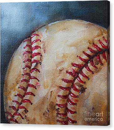 Old Baseball Canvas Print by Kristine Kainer
