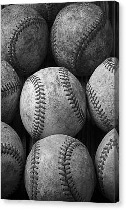 Old Baseballs Canvas Print by Garry Gay
