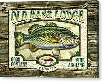 Old Bass Lodge Canvas Print by JQ Licensing