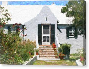 Canvas Print featuring the photograph Old Bermuda Home by Verena Matthew