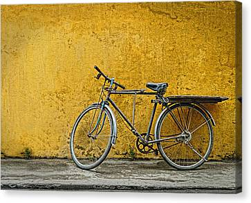 Canvas Print featuring the photograph Old Bike by Kim Andelkovic