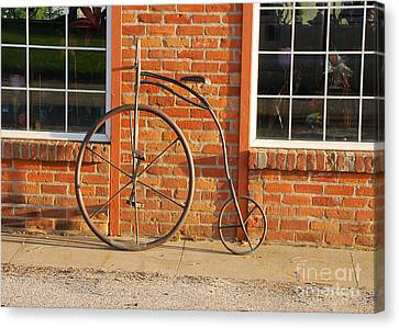 Canvas Print featuring the photograph Old Bike by Mary Carol Story