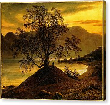 Fearnley Canvas Print - Old Birch Tree At The Sognefjord by Thomas Fearnley