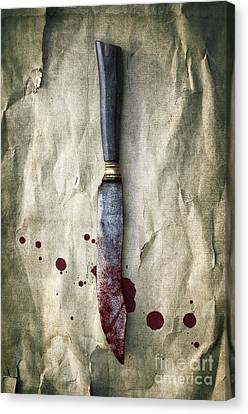 Old Bloody Knife Canvas Print by Carlos Caetano