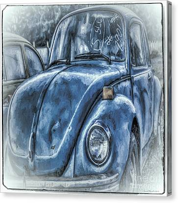 Old Blue Bug Canvas Print by Jean OKeeffe Macro Abundance Art
