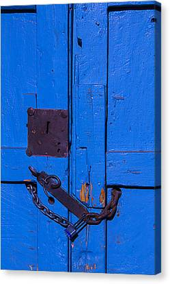 Old Blue Door Canvas Print by Garry Gay