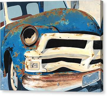 Junk Canvas Print - Old Blue by John Wyckoff